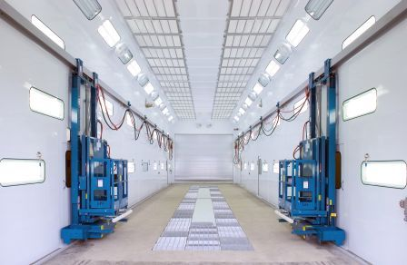 Double Row Downflo Truck Spray Booth